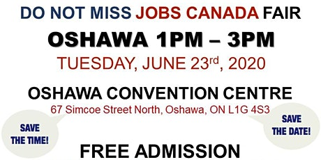 Oshawa Job Fair - June 23rd, 2020 tickets