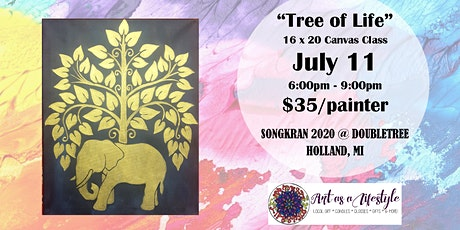 Tree of Life - Canvas Painting Class by Art As A Lifestyle  tickets