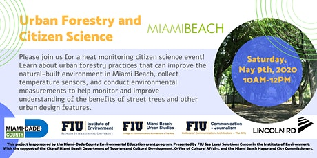 Urban Forestry and Citizen Science tickets