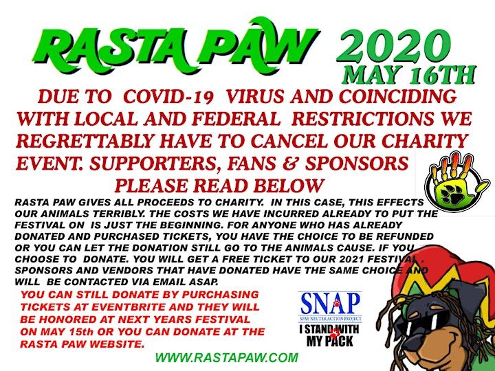 RASTA PAW 2020 REGGAE AND ARTS FESTIVAL image