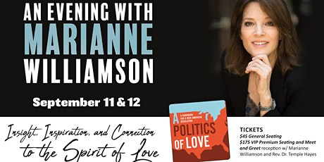 An Evening with Marianne Williamson at First Unity SOLD OUT 2nd Night Added tickets