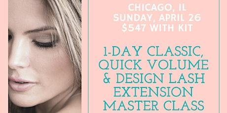 1-Day Classic, Quick Volume & Design Lash Extension Master Class tickets
