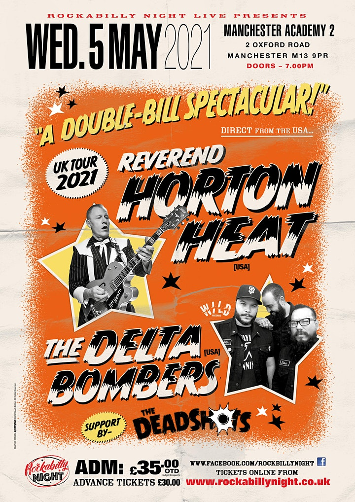 Reverend Horton Heat + Delta Bombers & Support from The Deadshots image