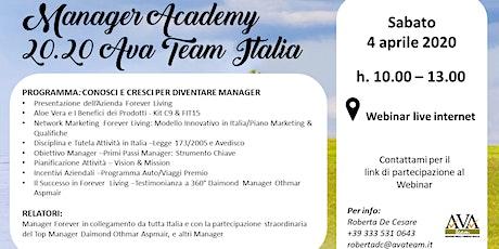 Manager Academy 20.20 biglietti