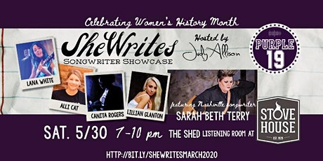 SheWrites Songwriter Showcase May 30, 2020 (rescheduled from March21) tickets