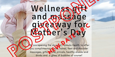 Wellness Event for Mother's Day - Gift and massage giveaway tickets