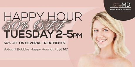 Botox N Bubbles Tuesday Happy Hour- 50% OFF tickets