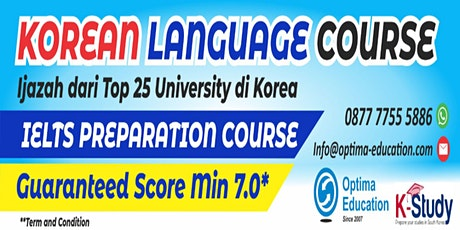 IELTS preparation &  Korean Language Course tickets