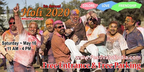 HOLI 2020 - Festival of Colors & Friendship tickets