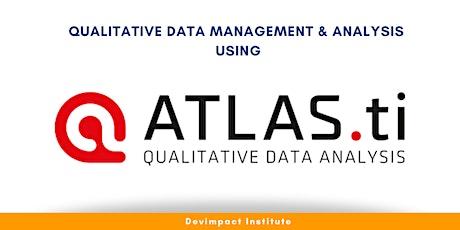 Training on Qualitative Data Management and Analysis using Atlas.ti tickets