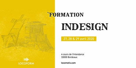 Formation InDesign • 3 jours tickets