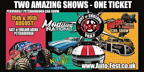 East of England AutoFest, East of England Arena, August 5&16. tickets
