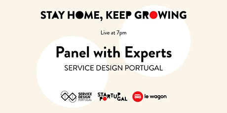 Panel with Lean/Service Design Experts by Service Design Portugal [Webinar] bilhetes