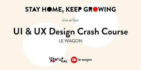 UI & UX Design Crash Course by Le Wagon [Webinar] bilhetes