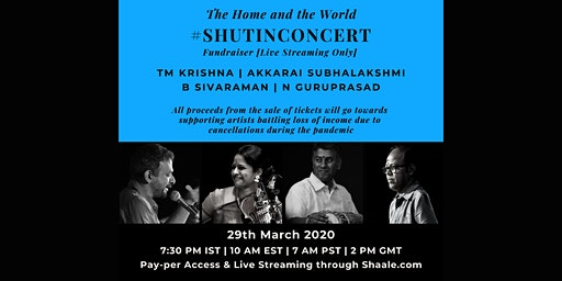 The Home + the World #ShutInConcert Fundraiser: Live Streaming Only