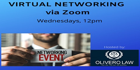 Virtual Networking!  Wednesdays 12pm tickets