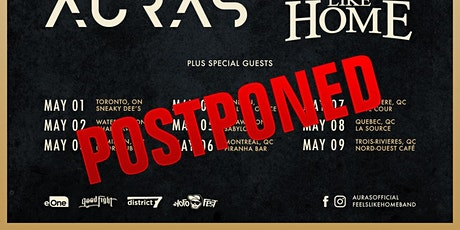 POSTPONED: Auras w/ Feels Like Home & Trauma Lanes - May 3 at Doors Pub tickets