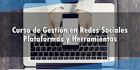 Curso de Gestión en Redes Sociales. Plataformas y Herramientas entradas