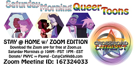 Saturday Morning QueerToons / ZOOM Edition tickets