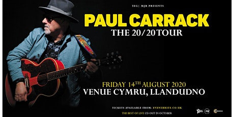 Paul Carrack (Venue Cymru, Llandudno)*Rescheduled Date* tickets