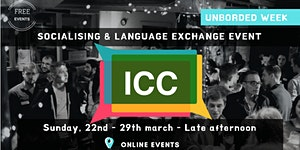 Get Unbored with ICC - 22th-29th of March 2020