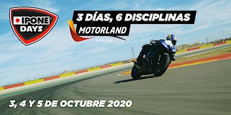 3-4-5 oct. - IPONE DAYS: el fin de semana de los apasionados de la moto! entradas