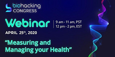"""Webinar """"Measuring and Managing your Health"""" tickets"""