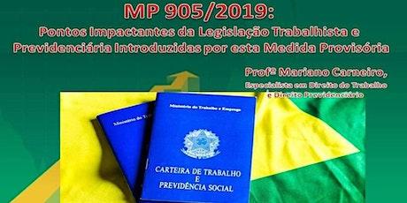 MP 905/2019: Pontos Impactantes da Legislação Trabalhista e Previdenciária ingressos