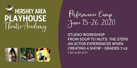 Studio Workshop—The Steps Experienced When Creating a Show Grades 7-12 tickets