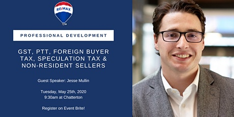 PD Day - GST, PPT, Foreign Buyer Tax, Speculation Tax & Non-Resident Sellers w/ Jesse Mullin tickets