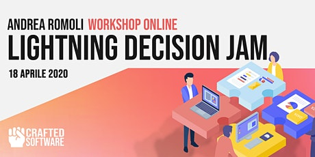 "Workshop Online: ""Lighting Decision Jam"" con Andrea Romoli biglietti"