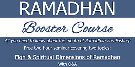 Ramadhan Booster Course tickets