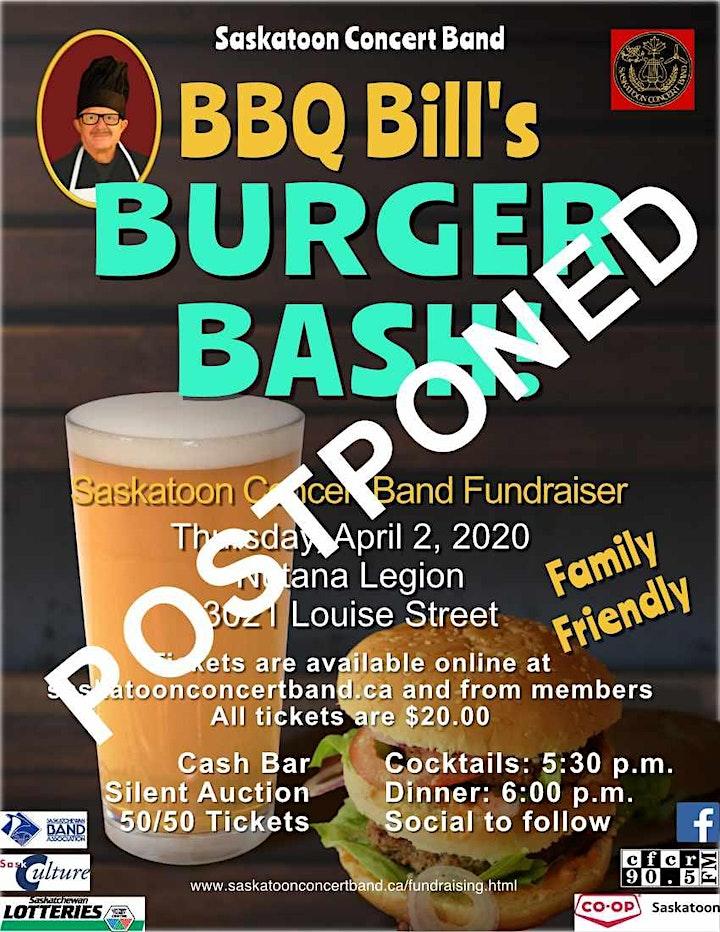 Saskatoon Concert Band Burger Bash image