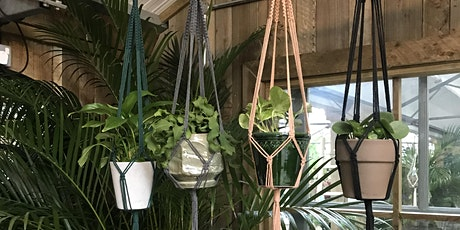 Macrame plant hanger workshop - colour hangers (green | grey | pink | black) tickets