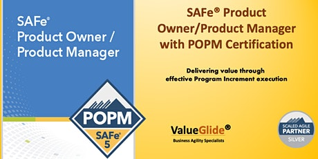 Product Owner/Product Manager - SAFe® 5.0 - Bangalore - VIRTUAL tickets