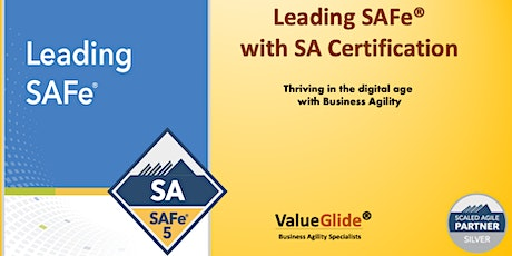 Leading SAFe 5.0 ,  Weekend course ,  Bangalore, India tickets