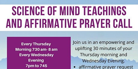 Science of Mind Affirmative Prayer via Phone with Rev. Marya & Ron Flurnoy tickets