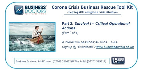 Webinar:  Corona-Crisis Business Rescue Toolkit (Part 2 ) tickets