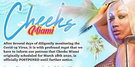 CHEEKS - The  Bikini Soiree  POSTPONED tickets