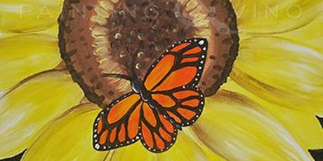 'Monarch and Sunflower' - Fun Paint and Sip Event tickets