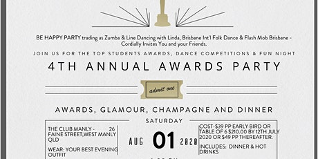 4th Annual Awards Night - Top 10 Students will be recognised tickets