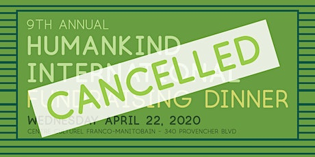 CANCELLED: 9th Annual Humankind Fundraising Dinner tickets
