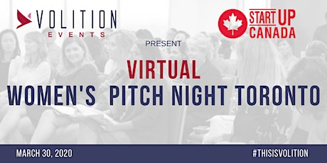 Virtual Women's Pitch Night Toronto | March 30 tickets