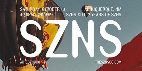 SZNS XIII: 2 Years Of SZNS tickets