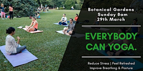 TRADITIONAL Hatha Yoga and Mindfulness at Botanical Gardens 29th March tickets