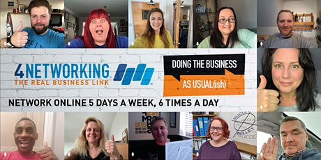 Network Online with 4Networking National: Friday 3rd April : 12-1.30pm tickets
