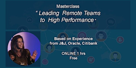 Masterclass Ignition - Leading High Perfomance Remote Teams tickets