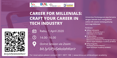 [ONLINE] Career for Millenials: Crafting Your Career in Tech Industry tickets