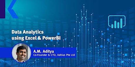 Data Analytics using Excel & PowerBI (Online) tickets