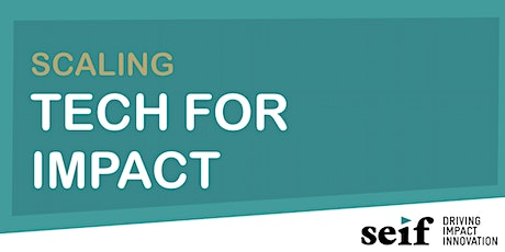 SCALING TECH FOR IMPACT tickets